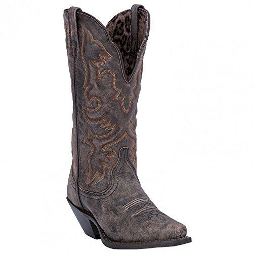 Laredo Women's Access Western Boot, Black/Tan, 11 W US