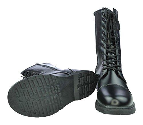 in totenkopf Boots Creationz UK mit 10 Schwarz skull Loch Knightsbridge Motiven verschiedenen Stiefel Dark schädel 0wnWOpOxq