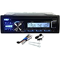 JVC KDR-85MBS Single Din In Dash Marine Boat Yacht Bluetooth CD MP3 SiriusXM Ready Stereo Receiver AM/FM Radio Player