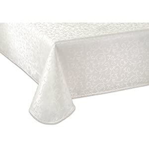 Lenox Opal Innocence 60-by-120-Inch Oblong / Rectangle Tablecloth, White