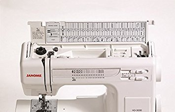Janome HD3000 Heavy-Duty Sewing Machine with 18 Built-In Stitches Hard Case