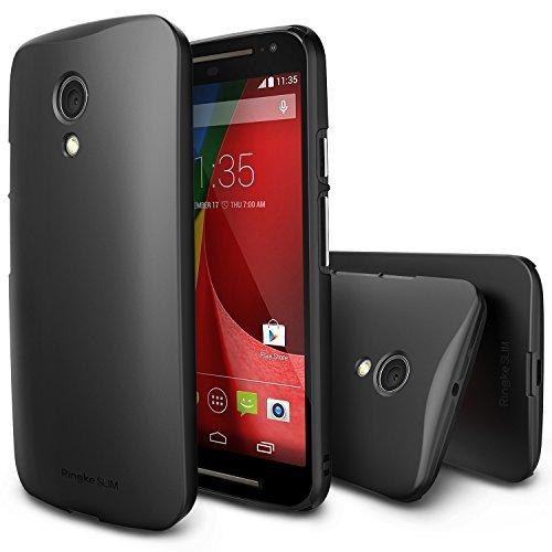 Ringke Slim Compatible with Moto G 2014 Case Moto G 2nd Gen [HD Film, Better Grip][Black] Premium Dual Coated Hard Case for Motorola Moto G 2014