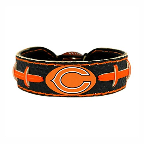 Chicago Bears Team Color NFL Football Bracelet Leather Nfl Bracelets