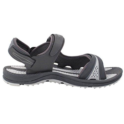 Zapatos De Pigeon Dorado Gp3631 Hombres Mujeres Easy Snap Lock Sandalias Impermeables Transpirables, Lite Arch Soporte 8655 Gris