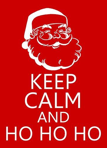 (Keep Calm and Ho Ho Ho Christmas Santa Claus STICKER DECAL VINYL BUMPER CAR Wall Locker Notebook)