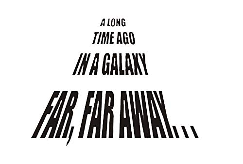 A Long Time Ago in a Galaxy Far, Far Away- Wall Decals (22x22, Black)