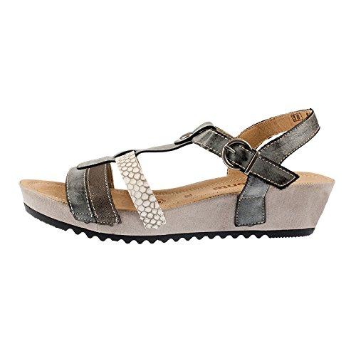 Remonte - Sandalias de vestir de Piel para mujer Gris gris
