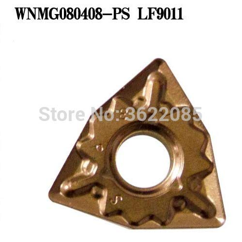 FINCOS 10pcs WNMG080404 WNMG080408-PS LF9011 CVD Coated Turning Inserts For Steel - (Angle: R0.4) ()