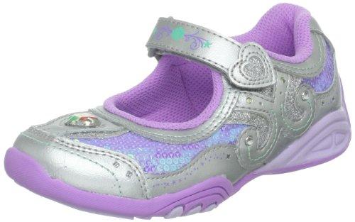 Stride Rite Disney Wish Light-up Ariel Sneaker (Toddler/Little Kid),Purple/Silver,2.5 M US Little Kid