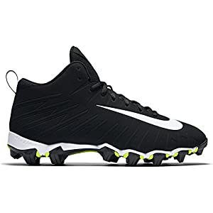Nike Men's Alpha Menace Shark Wide Football Cleat Black/White Size 7 M US
