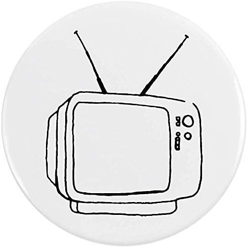 Azeeda 77mm TV Retro Insignia de Botón Pin (BB00042993): Amazon.es: Juguetes y juegos