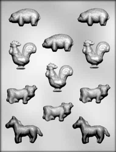 CK Products Farm Animals Chocolate Mold
