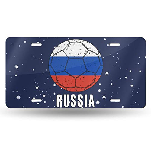 WI8Q-1 Russia Football Soccer Car Tag Decorative Front Plate 6