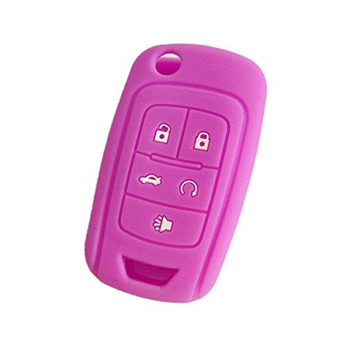 new-purple-5-buttons-silicone-cover-holder-key-jacket-for-chevrolet-camaro-cruze-volt-equinox-spark-