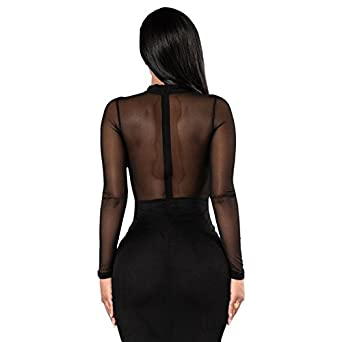 Carolina Dress Vestidos Ropa De Moda Para Mujer De Fiesta y Noche Casuales Elegante Negro (L) ve0076 at Amazon Womens Clothing store: