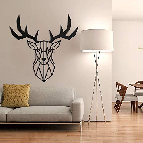 Bekata Décoration murale en métal avec tête de cerf géométrique pour la maison, le bureau, le salon, la chambre à…