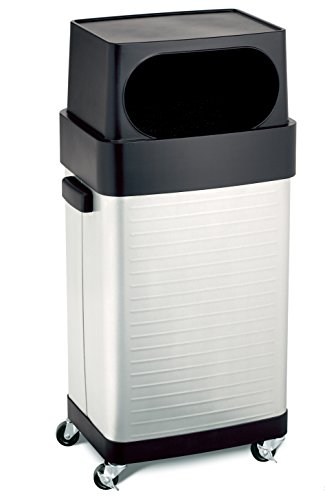 Seville Classics 17-Gallon UltraHD Commercial Stainless Steel Trash (Curbside Recycling Containers)