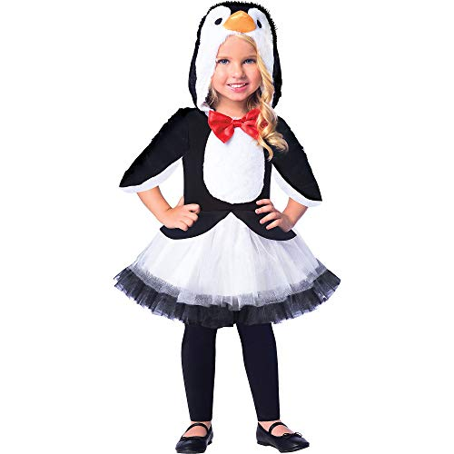 Bodice Tie - Suit Yourself Chill Out Penguin Costume for Girls, Size Small, Features a Hooded Bodice with Bow Tie and a Tutu Skirt