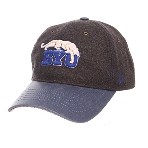 NCAA BYU Cougars Adult Men Alum Heritage Collection Hat, Adjustable, Heather Gray