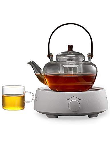 YONGYONGCHONG Glass Teapot Automatic Electric Ceramic Stove Home Cooking Tea Pot Boiling Water Furnace Heat-resistant Health Pot Double Liner Kettle (1000ml)