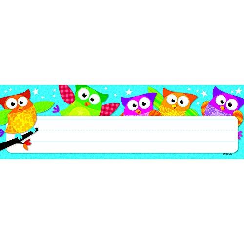 Trend Enterprises Owl-Stars! Desk Toppers Name Plates, 36 per Package (T-69217)