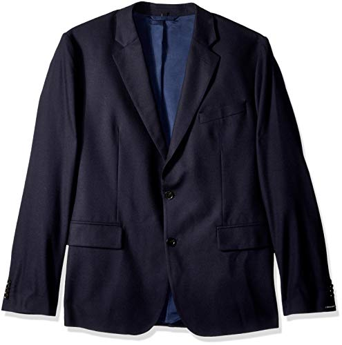 J.Lindeberg Men's Italian Wool Flannel Blazer, JL Navy, 46
