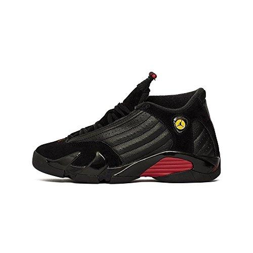 Nike Air Jordan 14 Retro Big Kids' Shoes Black/Varsity Red/Black 487524-003 (5.5 M US) (Jordan 14 Black Toe Kids)