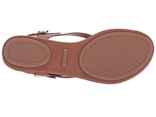 Tory Burch Minnie Leather Travel Sandal (8, Royal Tan)