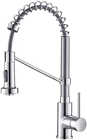 Ridgeyard Commercial Wall Mounted Pre-rinse Faucet, 44 Height Stainless Steel Flexible Kitchen Faucet Sprayer with Add-on Swing Spout