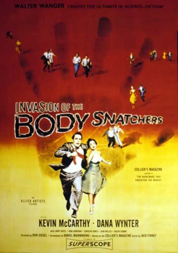 1956 original Invasion of the Body snatchers movie poster Sci-Fi rare