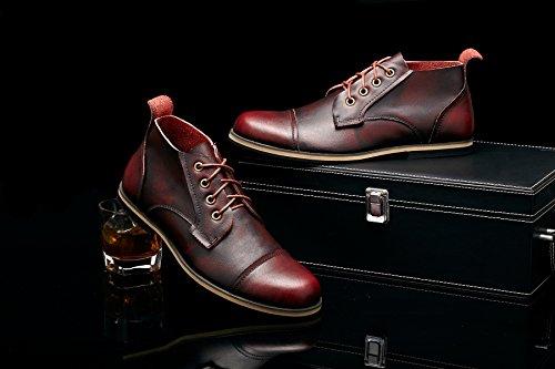 de désert Bottes Bottes rouge Chaussures décontractées TUOKing Men Vin Chukka Leather RHqnggt