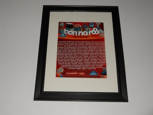 "Framed Bonnaroo 2013 Mini-Poster, 14"" by 17"" Paul McCartney, Mumford, Tom Petty"
