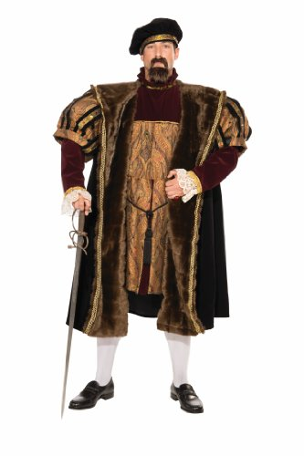 Fur Coat Costumes Halloween (Forum Deluxe Designer Collection King Henry The VIII Costume, Multi, Large)