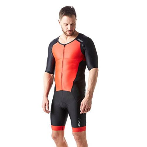 Black Uomo team Sleeved Triathlon Body Full Red 2xu Perform Zip AxOqwwga