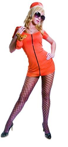 Sexy Princess in Prison Costume Set - Orange - Super Low Closeout Price (Princess In Prison Costume)