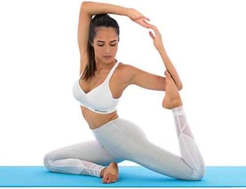 Antideslizante Esterilla de yoga–más larga y ancha que otros alfombrillas de ejercicio–1⁄ 10.2cm de grosor acolchado de alta densidad para evitar dolores de rodillas durante el Pilates, estiramientos y tonificación–para Hombres y Mujeres–desde Clever Yoga 6