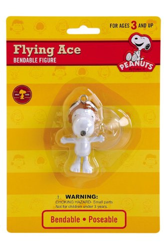 Snoopy Bendable Figure (Peanuts - Flying Ace Snoopy Bendable Figure with Suction Cup)