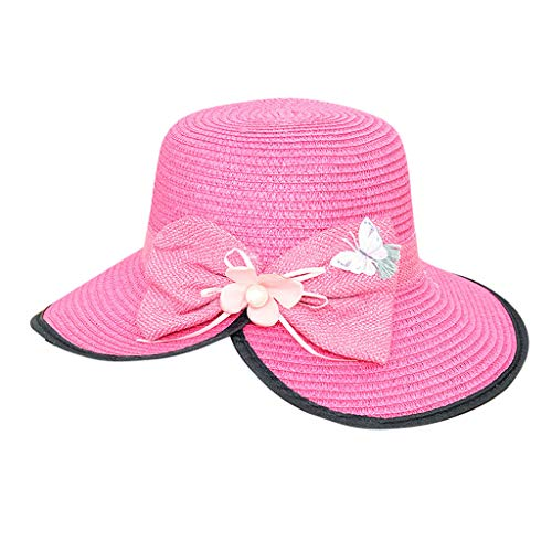 Weiliru Womens Big Bowknot Straw Hat Floppy Foldable Roll up Beach Cap Sun Hat UPF 50+ -