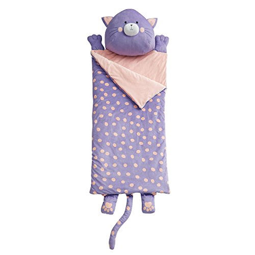 Dream Factory Cat Garden Ultra Soft Slumber Sleeping Bag, 27