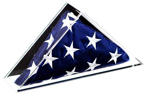 Deluxe Acrylic American Flag Memorabilia Display Case for Small 2' x 3 or 3' x 5' Flag with Black Back and Wall Mount (A049)