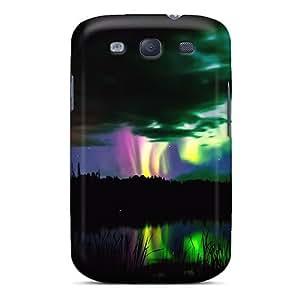 Awesome Aurora Borealis Flip Case With Fashion Design For Galaxy S3