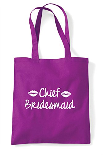 Bag Customised Hen Style Bridesmaid Shopper Do Party Lips Tote Magenta Chief Personalised HqBwaznf5B