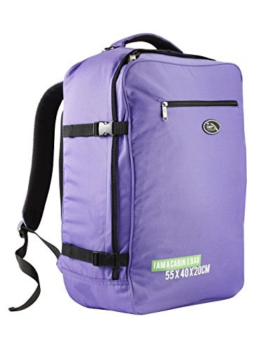Cabin Max Madrid 55X40x20cm Backpack Lightweight Carry On Easyjet And Ryanair  Purple