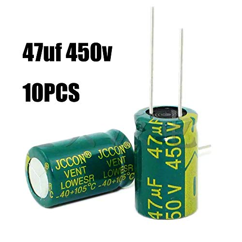 10pcs 47uf 450v Capacitor 16x25mm 105C Electrolytic Capacitor
