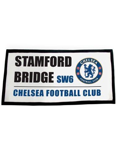 Oficial de club de fútbol toalla de playa, diseño de señal de calle, Chelsea