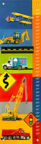 Oopsy Daisy Graphic Transportation by Jill Bachman Pabich Growth Charts, 12 by 42-Inch by Oopsy Daisy