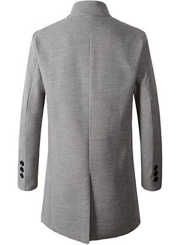 69ece62314e1 Jual Benibos Men s Trench Coat Winter Long Jacket Button Closer ...