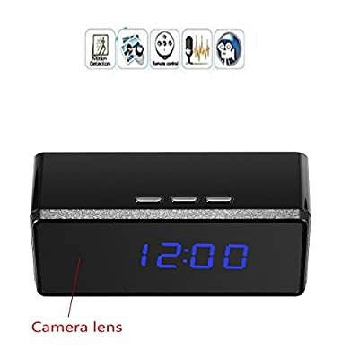 Mofek 1920x1080 Hidden Camera Alarm Clock Video Recorder Motion Detection Infrared Night Vision Mini DVR Camcorder