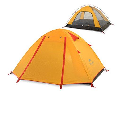 湿地アッティカス立方体TY&WJ キャンプテント,二重層 防水 ドームテント アウトドア スポーツの ハイキング 登山 ティーピー 3-4 人