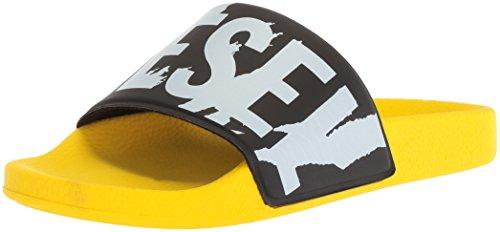 半径クラシカル反逆(ディーゼル) DIESELメンズ グラフィックプリントサンダル A-LOHAA SA-MARAL - sandals